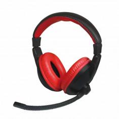 Casti gaming Vakoss X-H350HK Xzero Black / Red - Casca PC