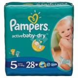 Scutece PAMPERS Active Baby 5 Junior Carry Pack 28 buc - Scutece unica folosinta copii