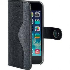 Husa Flip Cover Celly 103657 Onda neagra pentru Apple iPhone 5 / 5S - Husa Telefon