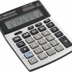 Calculator de birou Esperanza ECL102 Newton 12 cifre gri / negru