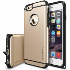 Husa Protectie Spate Ringke Armor Max Royal Gold plus folie protectie pentru Apple iPhone 6 - Husa Telefon Ringke, iPhone 6/6S, Plastic, Carcasa