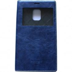 Husa Flip Cover Arium Design 232034-SGSN4E-NV Buffalo View albastru navy pentru Samsung Galaxy Note 4 Edge