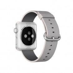Curea smartwatch Apple Watch 42mm Pearl Woven Nylon