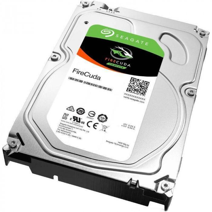 Hard disk Seagate FireCuda 1TB SATA-III SSHD 7200rpm 64MB foto mare