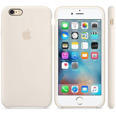 Husa Protectie Spate Apple Silicone Case Alb Antique pentru tiPhone 6s plus foto
