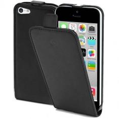 Husa Flip Cover Celly Face360 negru pentru Apple iPhone 5C - Husa Telefon