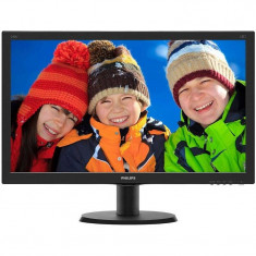 Monitor Philips V-line 240V5QDAB/00 23.8 inch 5ms Black, 23 inch, 1920 x 1080