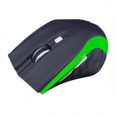 Mouse Modecom MC-WM5 Wireless Negru Verde, Optica