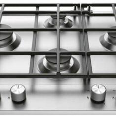 Plita Hotpoint Ariston Arzatoare gaz 60 cm Gratare fonta Inox - Plita incorporabila Hotpoint, Argintiu, Inductie, Numar arzatoare: 4
