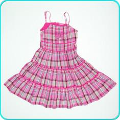 FOARTE FRUMOASA → Rochie de vara, bumbac, brodata, OKAY → fete 9-10 ani | 140 cm, Marime: Alta, Culoare: Roz