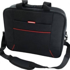 Geanta Laptop Modecom York Neagra 17 inch, Nailon, Negru