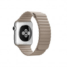 Curea smartwatch Apple Watch 42mm Stone Leather Loop Large