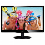 Monitor Philips LCD 21.5inch 5ms DVI VGA Audio Black, 21 inch