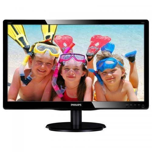 Monitor Philips LCD 21.5inch 5ms DVI VGA Audio Black