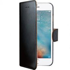 Husa Flip Cover Celly WALLY801 Agenda Negru pentru Apple iPhone 7 Plus - Husa Telefon