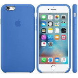 Husa Protectie Spate Apple Silicone Case Albastru pentru tiPhone 6s plus - Husa Telefon