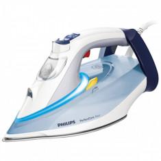 Fier de calcat Philips GC4910/10 PerfectCare Azur 2400W alb / albastru, SteamGlide, 350 ml
