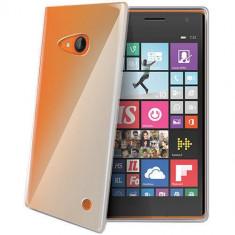 Husa Protectie Spate Celly GELSKIN438 Transparent pentru Nokia Lumia 735 - Husa Telefon
