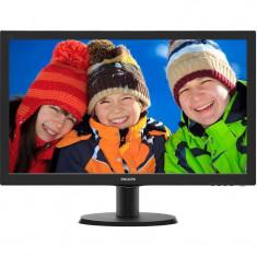 Monitor LED Philips 243V5LHAB5/00 23.6 inch 5ms Black, HDMI, 1920 x 1080