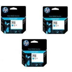 Consumabil HP Cartus 711 Cyan 3 pack CZ134A