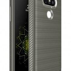 Husa Protectie Spate Ringke Onyx Mist Grey plus folie protectie pentru LG G5 - Husa Telefon Ringke, Plastic, Carcasa