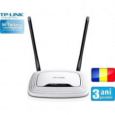 Router wireless TP-Link TL-WR841N RO N300 White, Porturi LAN: 4