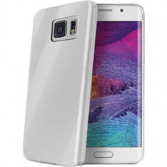 Husa Protectie Spate Celly GELSKIN491 Transparent pentru Samsung Galaxy S6 Edge - Husa Telefon Celly, Plastic, Carcasa