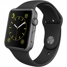 Refurbished Apple Watch Sport A1554 42 mm Space Grey / Black - Smartwatch Apple, Aluminiu
