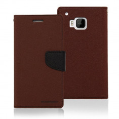Husa Flip Cover Goospery Fancy Diary Brown Black pentru HTC ONE M9 - Husa Telefon