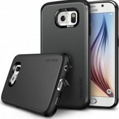 Husa Protectie Spate Ringke Armor Max Gun Metal plus folie protectie pentru Samsung Galaxy S6 - Husa Telefon