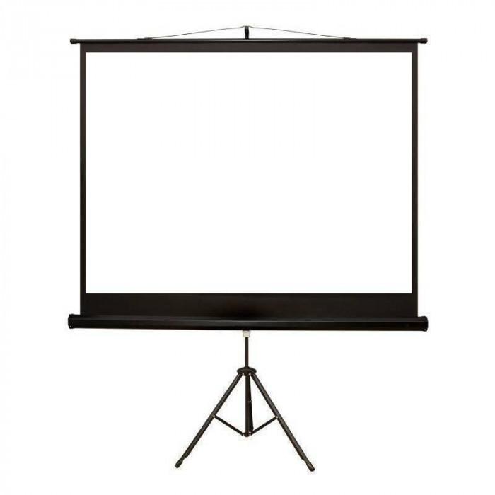 Ecran de proiectie 4World cu suport 170 x 127 cm format 4:3 alb mat