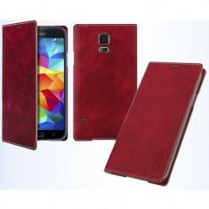 Husa Flip Cover Arium Design 232041-SGS4-RD Mustang Flip Book Battery Cover rosie pentru Samsung Galaxy S4 - Husa Telefon
