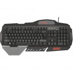 Tastatura gaming Trust GXT 850 Metal, USB, Cu fir