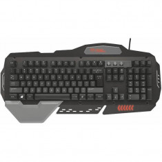 Tastatura gaming Trust GXT 850 Metal, Cu fir, USB