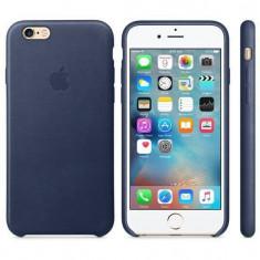 Husa Protectie Spate Apple Leather Case Albastru Midnigh pentru iPhone 6s plus - Husa Telefon Apple, iPhone 6 Plus, Piele