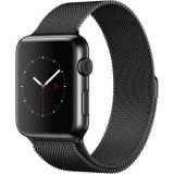 Smartwatch Apple Watch 42mm Space Black Stainless Steel Case Space Black Milanese Loop