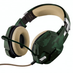 Casti gaming Trust GXT 322C Green Camouflage - Casca PC