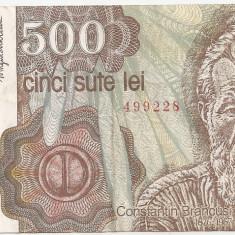 ROMANIA 500 LEI APRILIE 1991 VF - Bancnota romaneasca, An: 1943
