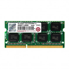 Memorie laptop Transcend 4GB DDR3 1333 MHz CL9 1.35V - Memorie RAM laptop