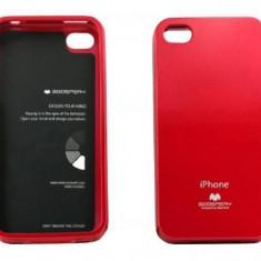 Husa Protectie Spate Goospery YJAPPIPH4ROS rosie pentru Apple iPhone 4 / 4S - Husa Telefon