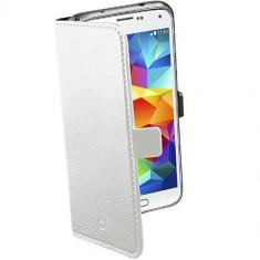 Husa Flip Cover Cellularline BOOKESSENGALS5W Agenda Alb pentru Samsung Galaxy S5 - Husa Telefon