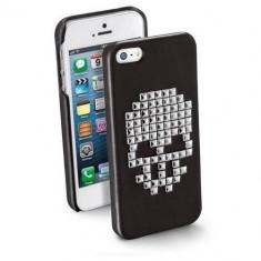 Husa Protectie Spate Cellularline SKULLCIPHONE5BK Skull Black pentru Apple iPhone 5S / SE - Husa Telefon CellularLine, iPhone 5/5S/SE