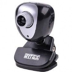 Camera web Intex KOM0091 USB Negru - Webcam