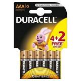 Baterie Duracell Basic AAA LR03 4+2 gratis Negru - Baterie Aparat foto