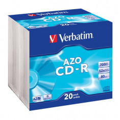 Mediu optic Verbatim BLANK CD-R AZO 52X 700MB 20 bucati - CD Blank