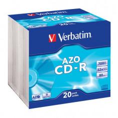 Mediu optic Verbatim BLANK CD-R AZO 52X 700MB 20 bucati