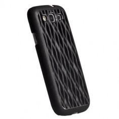 Husa protectie pentru spate Krusell 89746 Bioserie Alucover neagra pentru Samsung Galaxy S3 i9300, Plastic, Carcasa