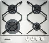 Plita Hansa BHGI631500 gaz 4 arzatoare incorporabila Inox, Argintiu