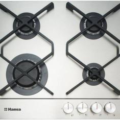 Plita Hansa BHGI631500 gaz 4 arzatoare incorporabila Inox - Plita incorporabila Hansa, Argintiu, Numar arzatoare: 4
