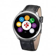 Smartwatch Mykronoz ZeRound Premium Curea Piele + Curea Silicon Negru